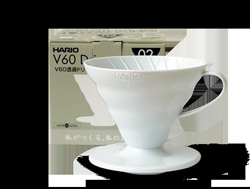 Пластиковая воронка Hario V60 белая